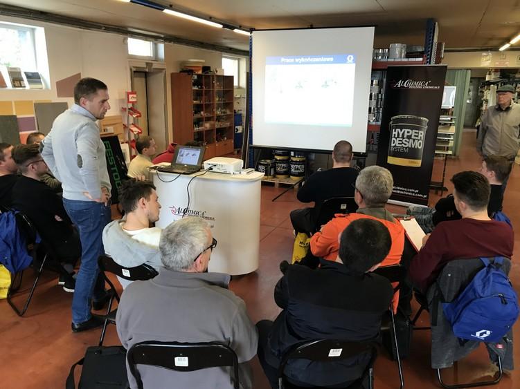 Prezentacja agregatów Graco podczas szkolenia Alchimica