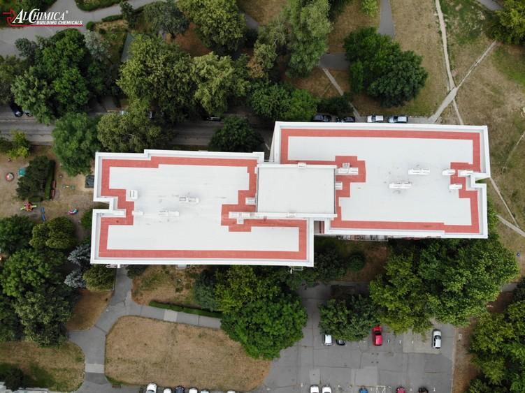 Dach z papy po renowacji w systemie Hyperdesmo