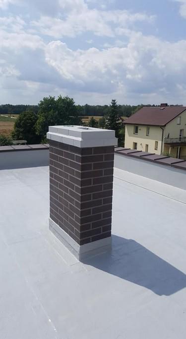 Dach po aplikacji płynnej membrany Hyperdesmo z żywicy poliuretanowej