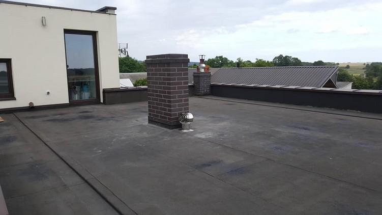 Dach z papy przed przystąpieniem do prac