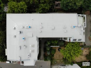 Dach po zakończeniu aplikacji systemu Hyperdesmo