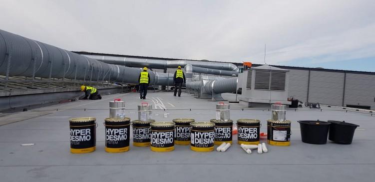 Naprawa dachu z PCV w systemie Hyperdesmo - Wielkopolska